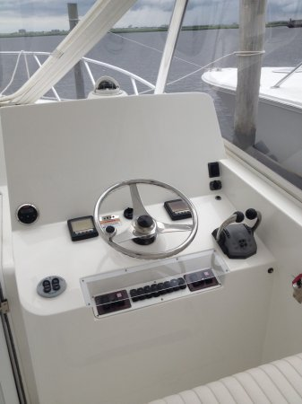 In an inboard engine configuration, the engine sits amidships, with a drive running through the bottom of the boat straight to a propeller, with a separate rudder used for steering.