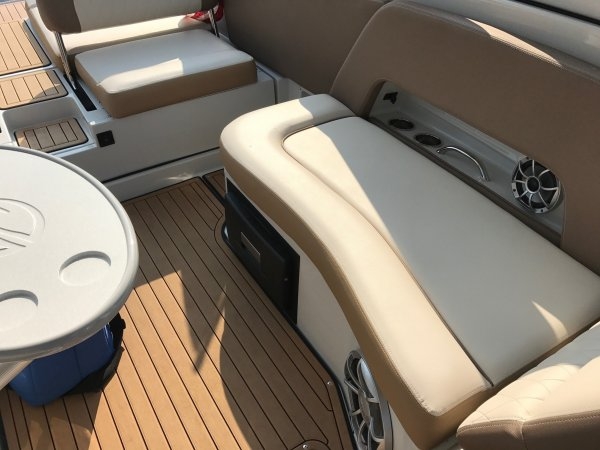 A stern drive is called an Inboard/Outboard, reflecting its design. It is designed so that its engine is inside and enclosed by the boat, while the propulsion system (out drive) is outside of the boat. The twin will  have two engines and drives.